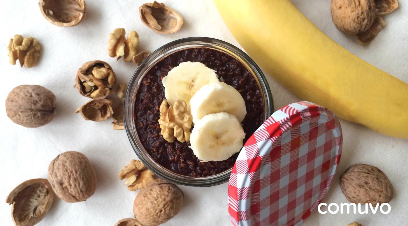 Overnight Oats Schoko Banane | comuvo Blog
