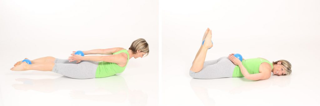 Pilates mit dem Redondo Ball Mini | Gabi Fastner | comuvo Blog