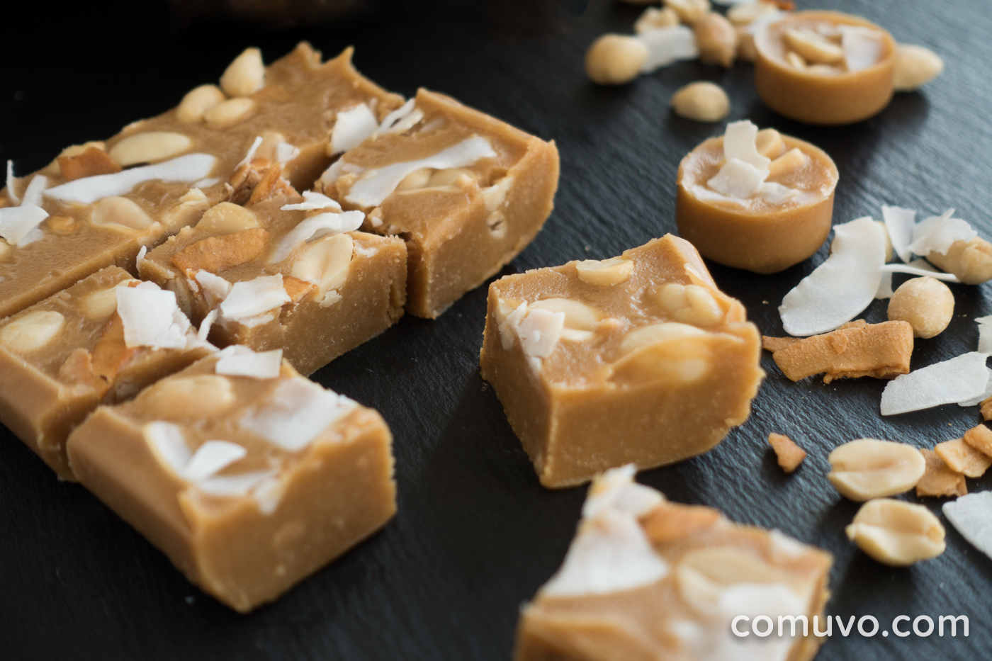 Vegan Raw Clean Eating Peanut-Butter-Kokos-Fudge | comuvo Blog